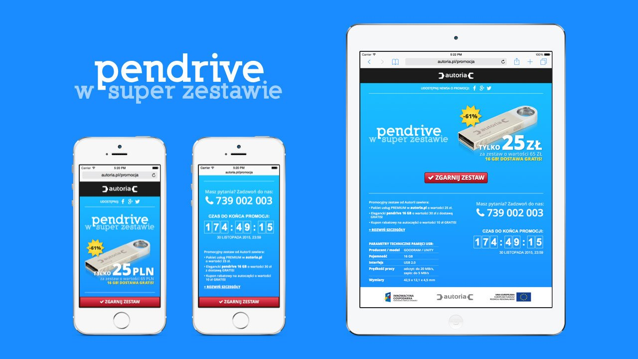 PENDRIVE - promotion website