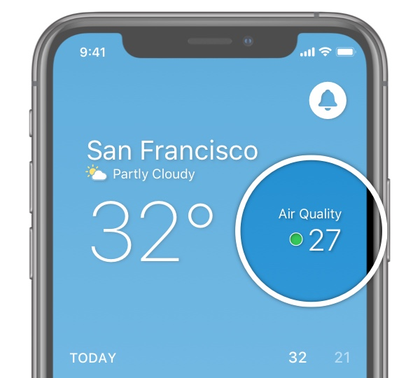 Weather app - air quality